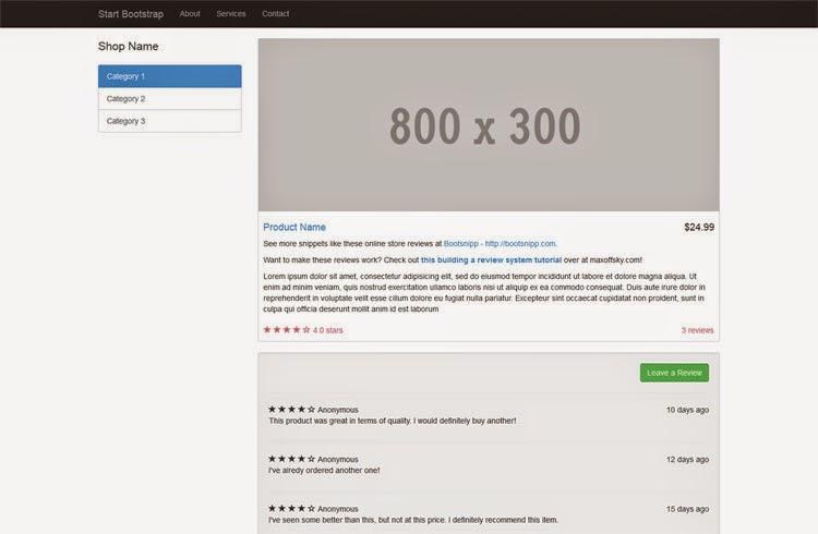 Shop Item - Free Bootstrap Theme
