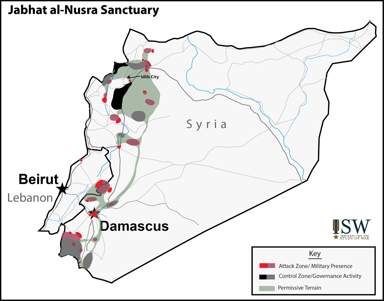 Jabhat al-Nusra Sanctuary Map