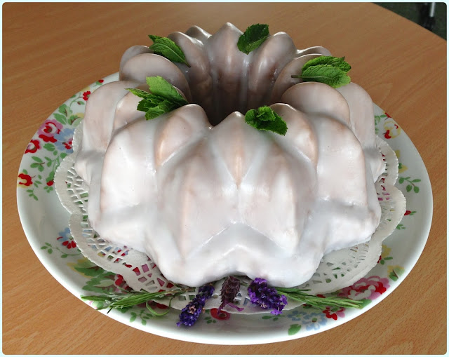 Elderflower and Gooseberry Bundt Cake