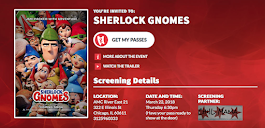 GET YOUR FREE SHERLOCK GNOMES ADVANCE SCREENING PASSES HERE