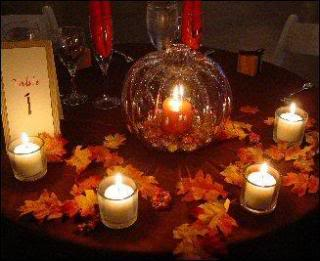 Cheap Fall Wedding Table Setting Reception Decoration | Bridal and ...