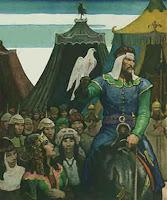Genghis Khan nació cerca del lago Baikal (en la actual Rusia), en 1167. Su verdadero nombre era Temojin. Era hijo de Yesugei, jefe y dirigente mongol, y bisnieto de Kabul Khan, líder de los mongoles que, supuestamente, fue envenenado por los Tártaros.