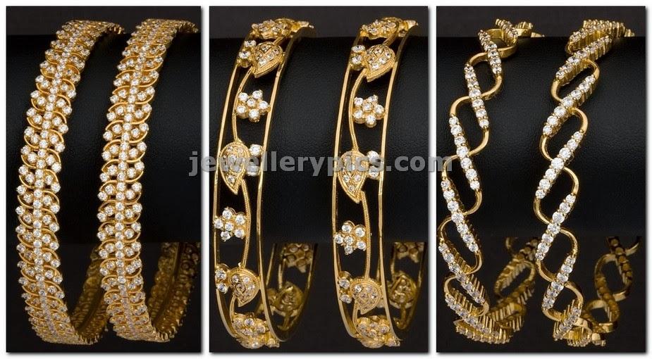 zircon gold bangles by avr swarnamahal