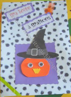Activité créative grimoire d'halloween
