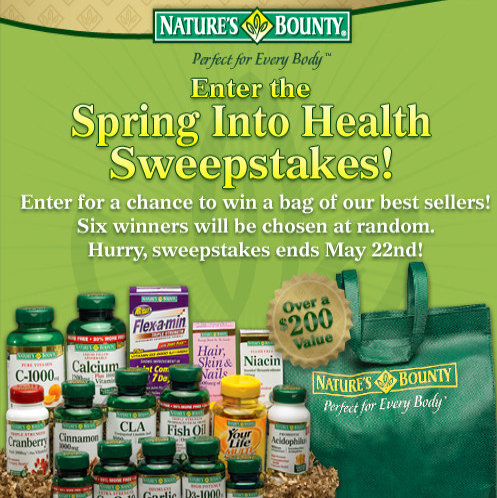 Fillers Finds Nature S Bounty Facebook Sweepstakes