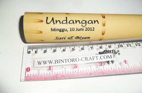 Undangan Bambu Gulung / Nawala - Undangan Pernikahan | Souvenir
