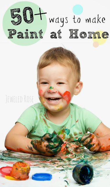 A fantastic collection of homemade paint recipes for kids- from super simple to creatively eclectic and everything in-between