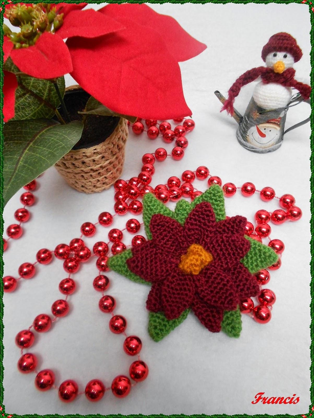 FLOR DE NAVIDAD A CROCHET - Christmas | Patrones Crochet ...