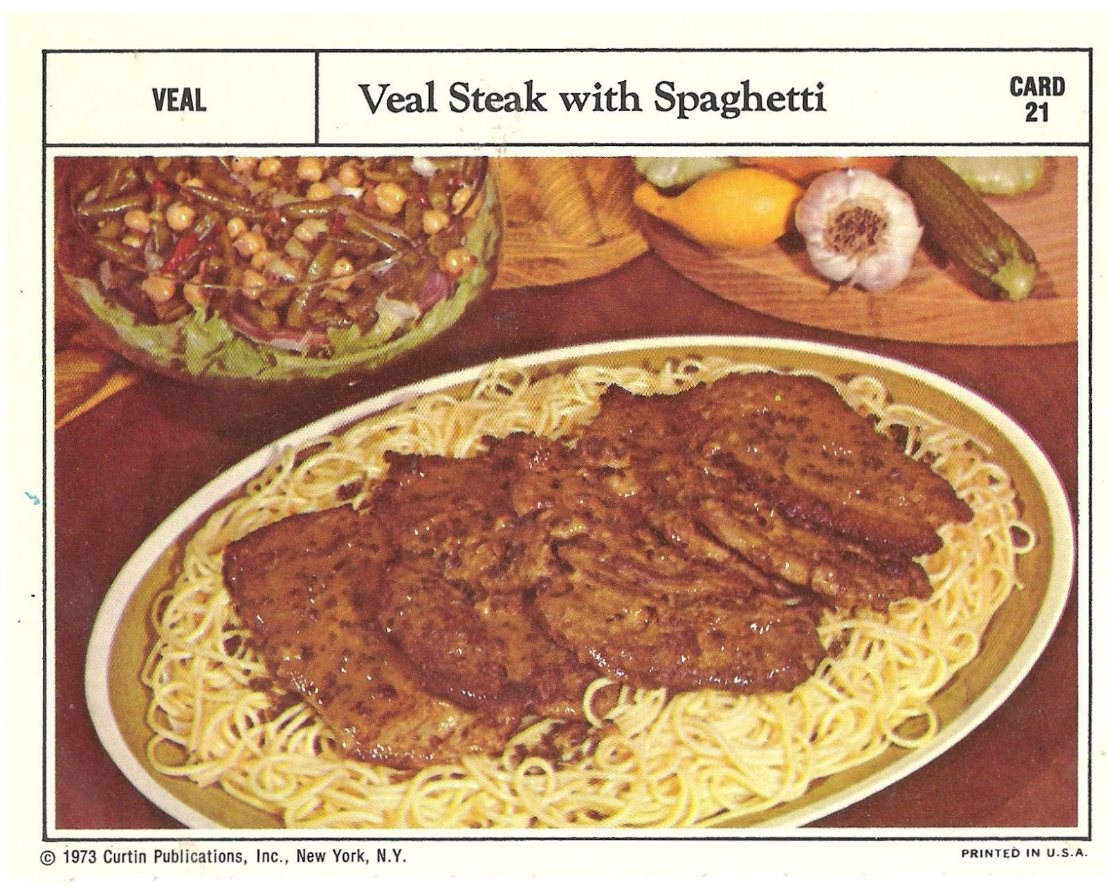 Bad and ugly of retro food the epitome of 1970s food recipe cards yepats pretty much what this is no need to make any explanations odd combination its just too self explanatory for me to come up with anything forumfinder Gallery