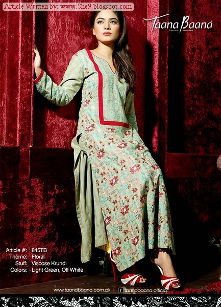 Taana Baana Fall and Eid Dress Pictures