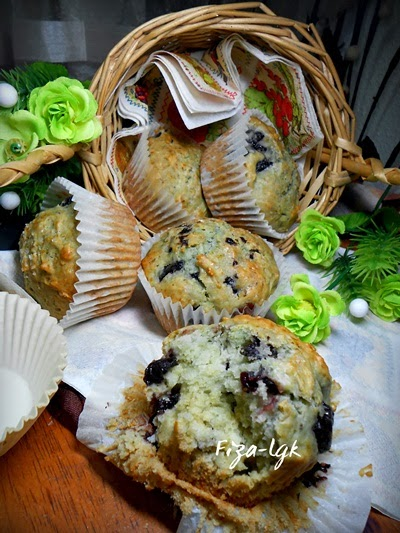 BLACK CHERRY YOGURT MUFFINS
