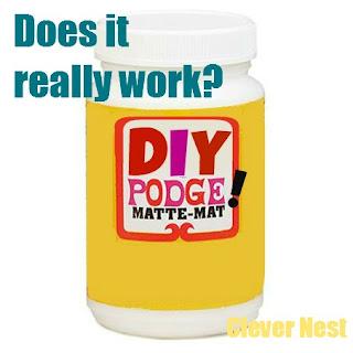 mod podge vs white glue comparison