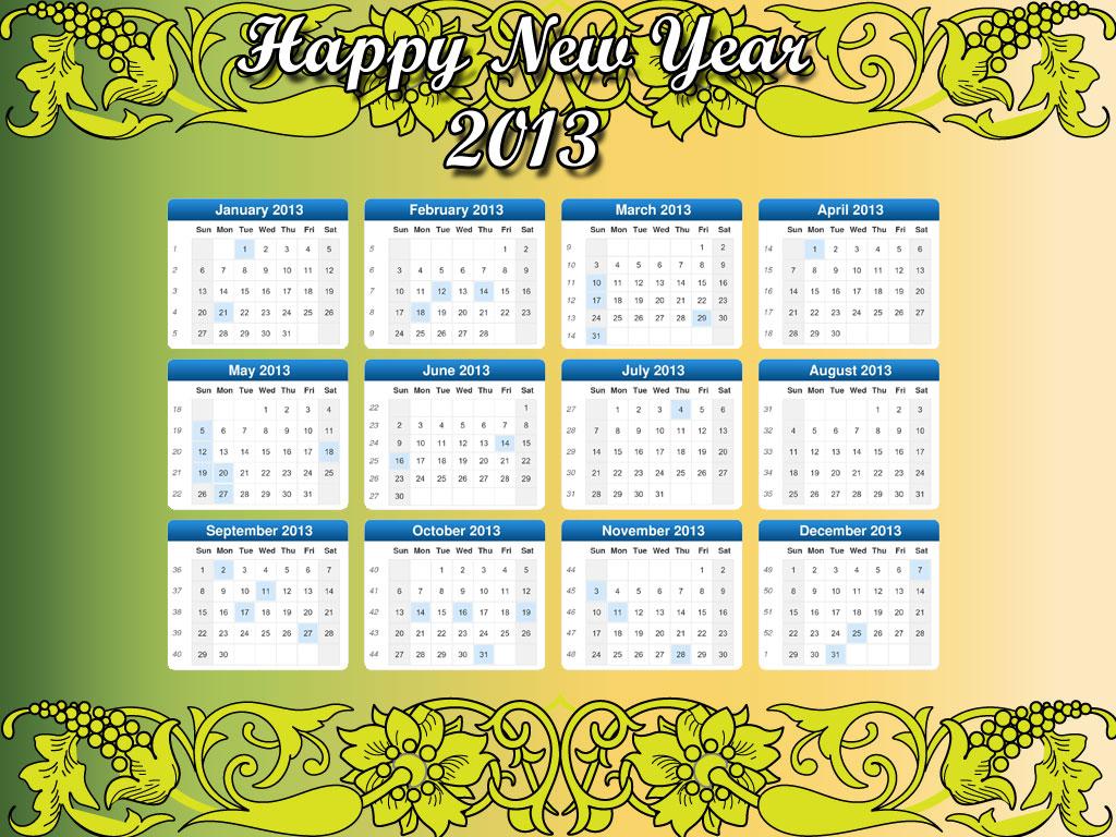 Calendar Theme Wallpaper : New year desktop calendars decorate with