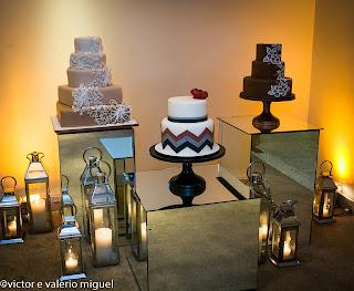 bolo, velas, cubos de espelho, decoração, thiago calil
