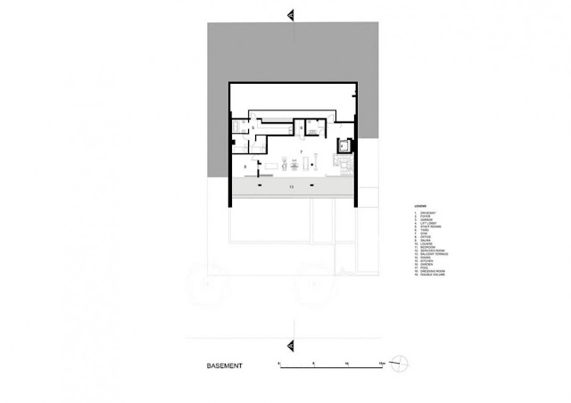 Basement floor plan of an amazing modern home