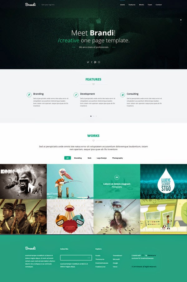 Brandi – Multipurpose PSD template