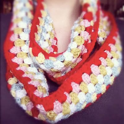 free crochet pattern granny stripe cowl