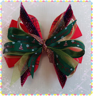 How to make Christmas Style Hairbow