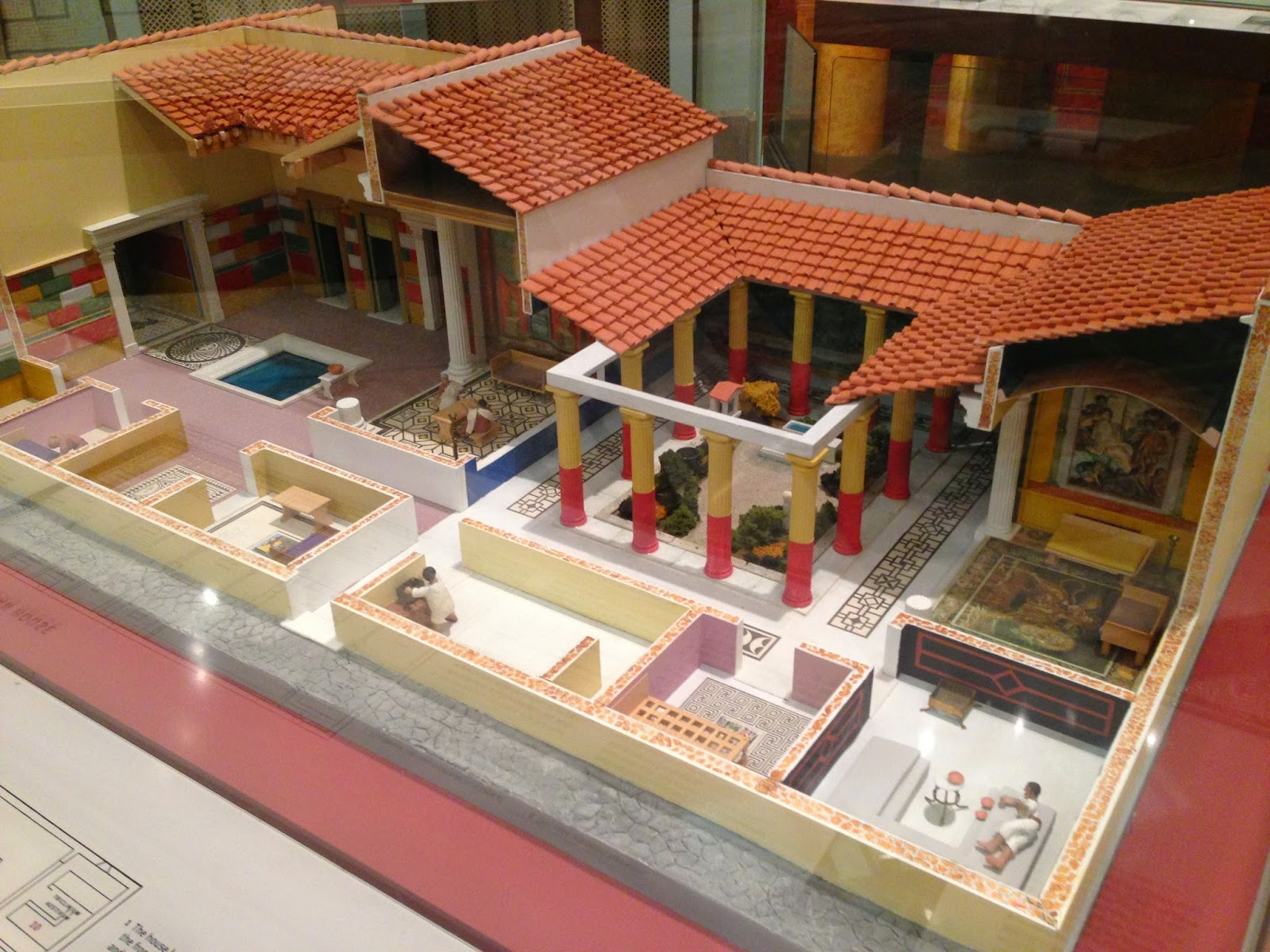 Object blog model of a roman house at the penn museum for The model house