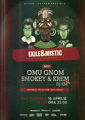 Exile & Mistic - CANIBALI13 preview / Kulturhaus, București