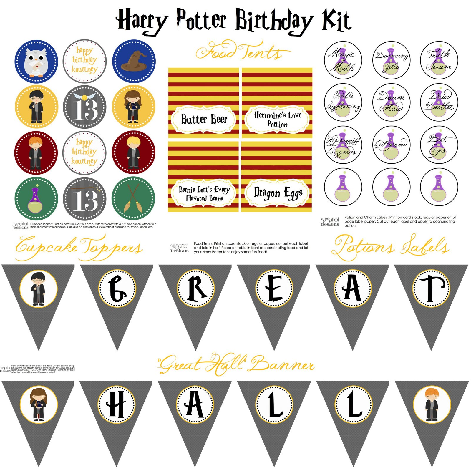 Sugartotdesigns Harry Potter Birthday Party