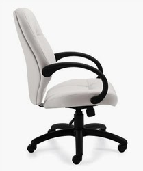 Cool White Leather Computer Chair
