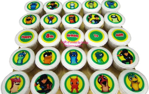 Slugterra Birthday Cupcake