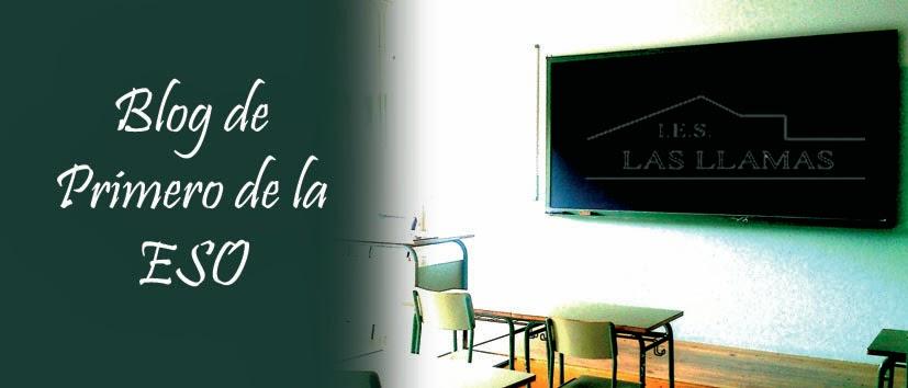 Blog de 1º de la ESO (IES Las Llamas)