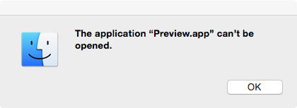 Preview Can't be Opened
