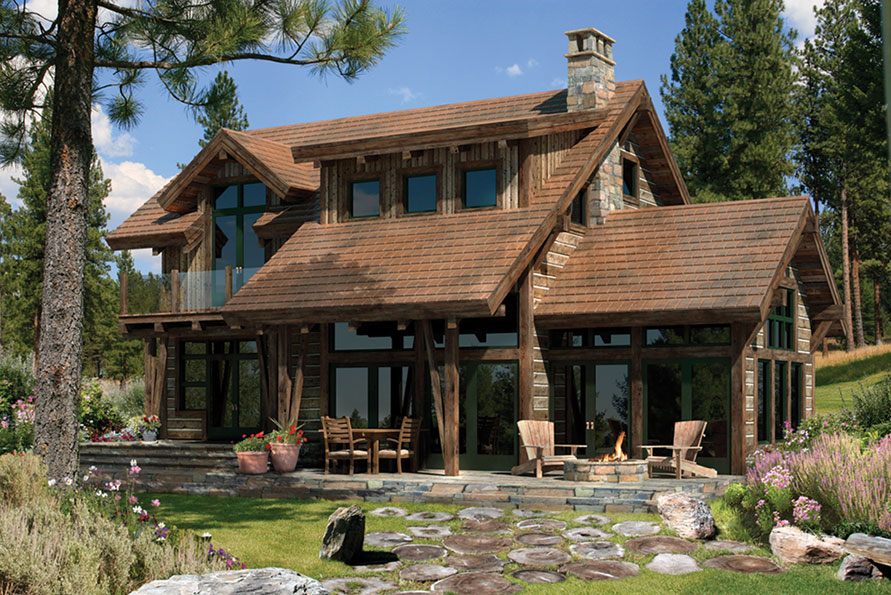 Home ideas rustic log home plans Simple timber frame house plans