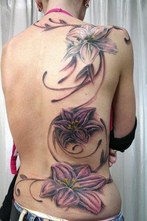 3d flower tattoos