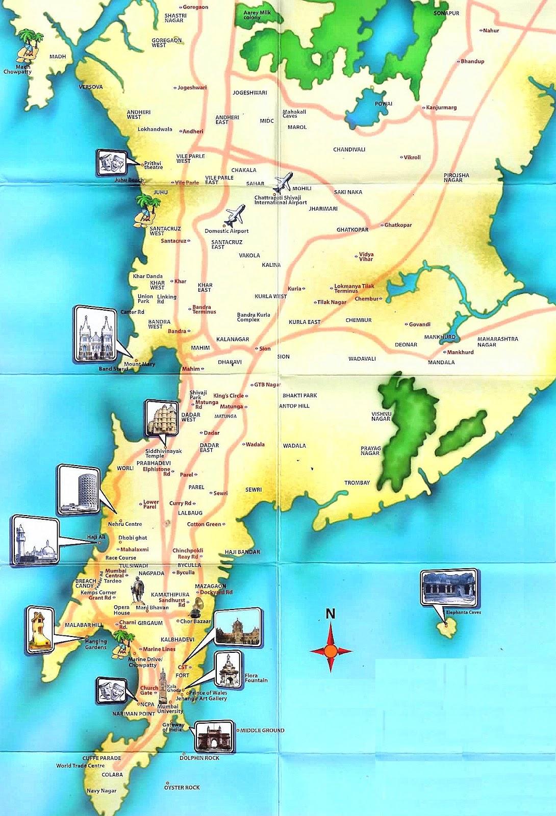 Only Mumbai: Schematic Map of Mumbai