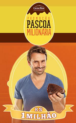 Promoção Páscoa Milionária Cacau Show 2015