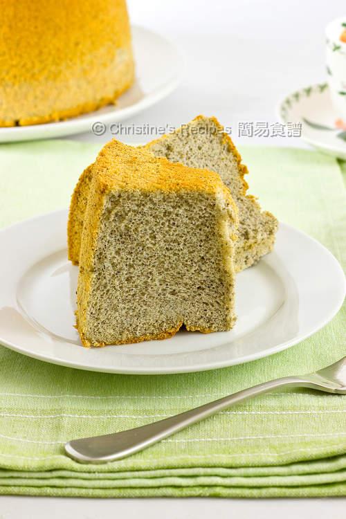 黑芝麻戚風蛋糕【清香可口】Sesame Chiffon Cake