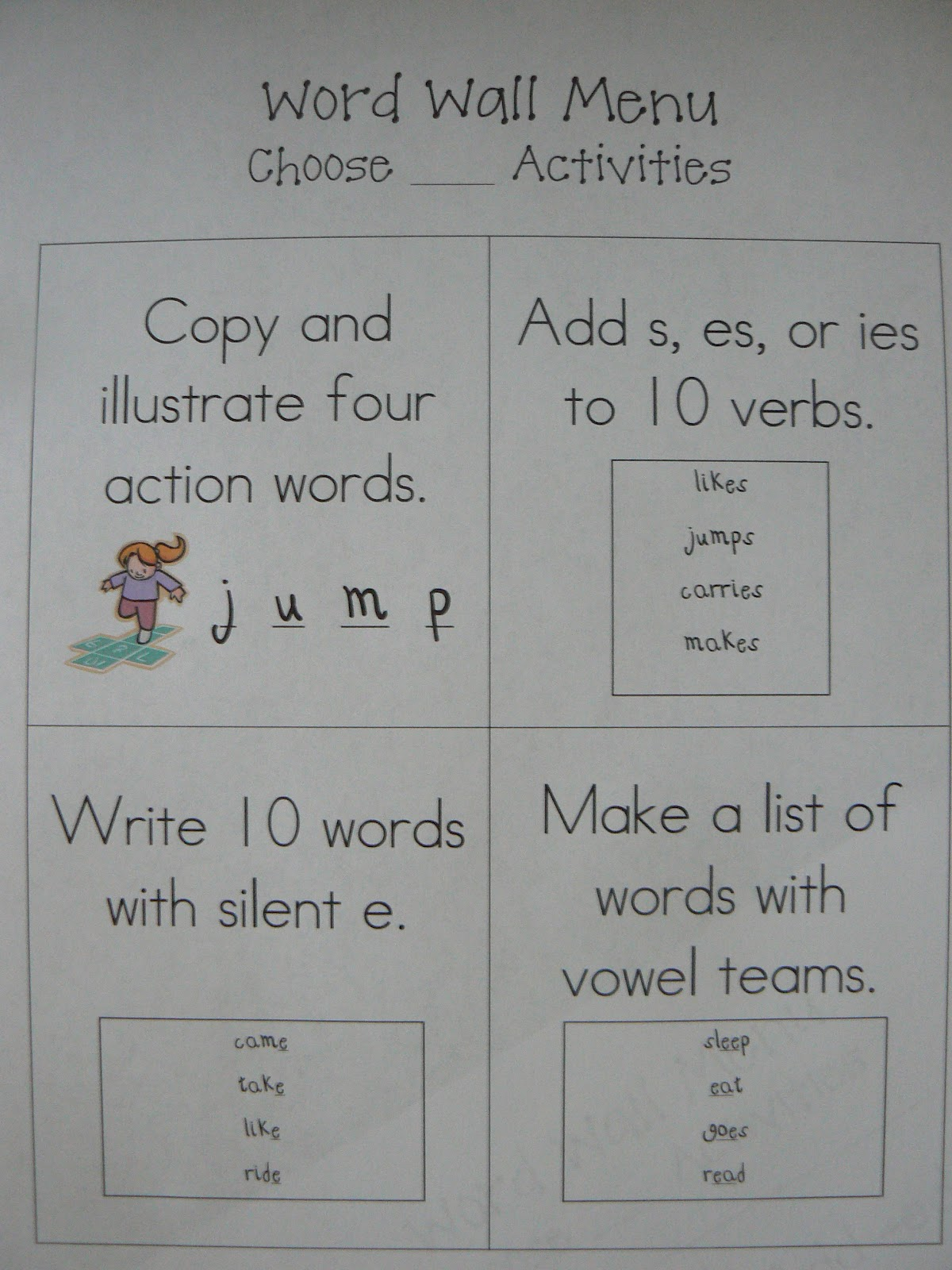 ... First Grade Class: Words Their Way Games and Word Work Activities