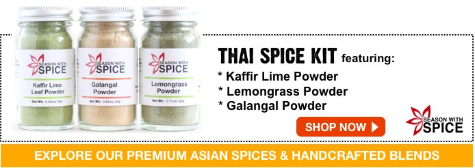 Shop lemon grass powder, kaffir lime leaf powder and galangal powder from season with spice shop