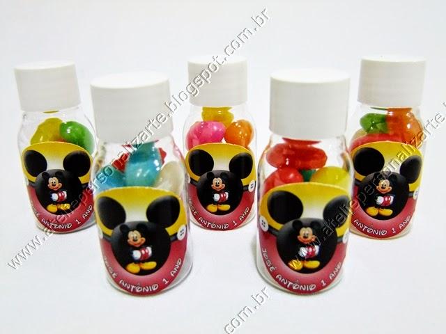 Lembrancinhas Personalizadas Mickey - Frasquinhos