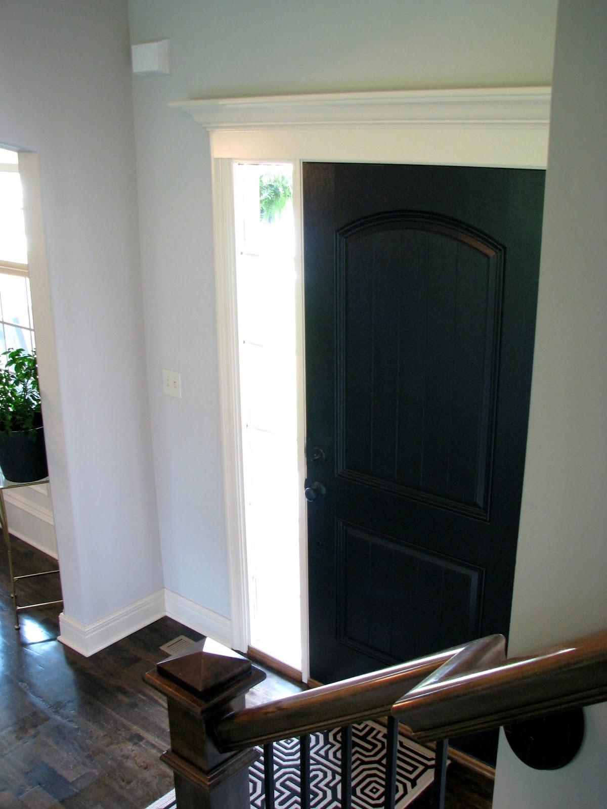 Life Love Larson: Black Interior Front Door