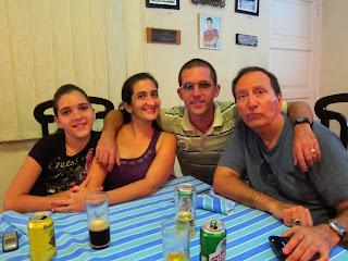 Santiago de Cuba family at restaurant