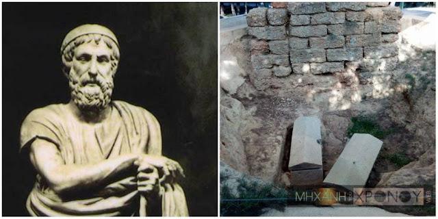 Ο «άγνωστος» τύμβος του Σοφοκλή κοντά στο Τατόι. Πέθανε σε ηλικία 91 ετών και τάφηκε με άδεια των Σπαρτιατών που πολιορκούσαν την Αθήνα.