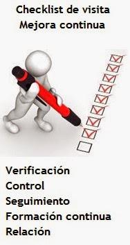 hojas de control de visitas, listas de verificación