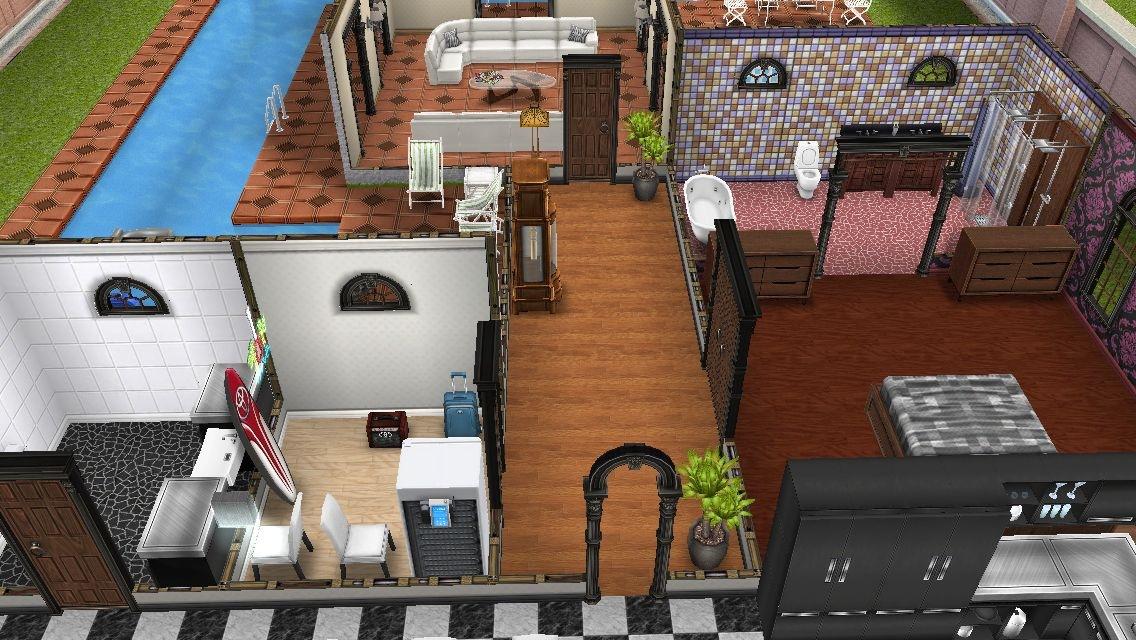 residencia premium mansion de dos plantas los sims freeplay