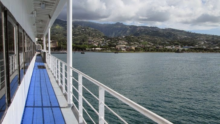 Le front de mer de Papeete