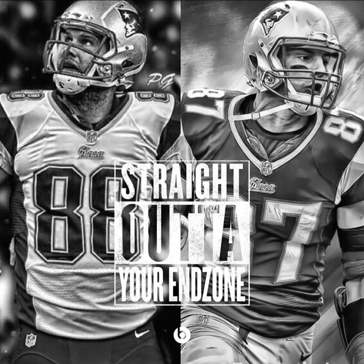Straight outta your endzone. #Gronk #Brady #Chandler #patriots