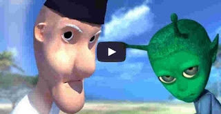 film kartun Indonesia Alien vs Mbah Darmo