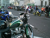 Bonnie + 1000 other bikers demonstrating for biking rights in London