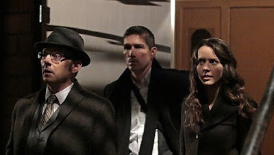 Jim Caviezel, Michael Emerson and Amy Acker in PERSON OF INTEREST