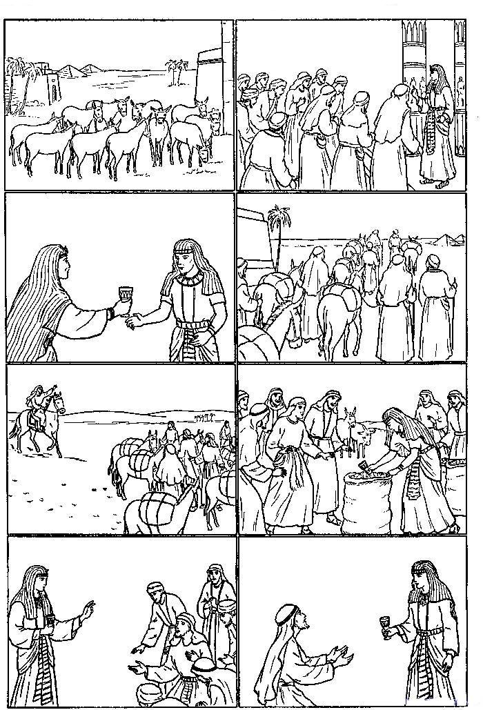 Joseph in egypt coloring child coloring for Bible coloring pages joseph