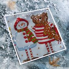 Nounours et bonhomme de neige