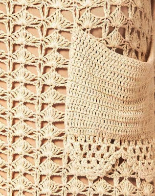 crochet dress with pocket